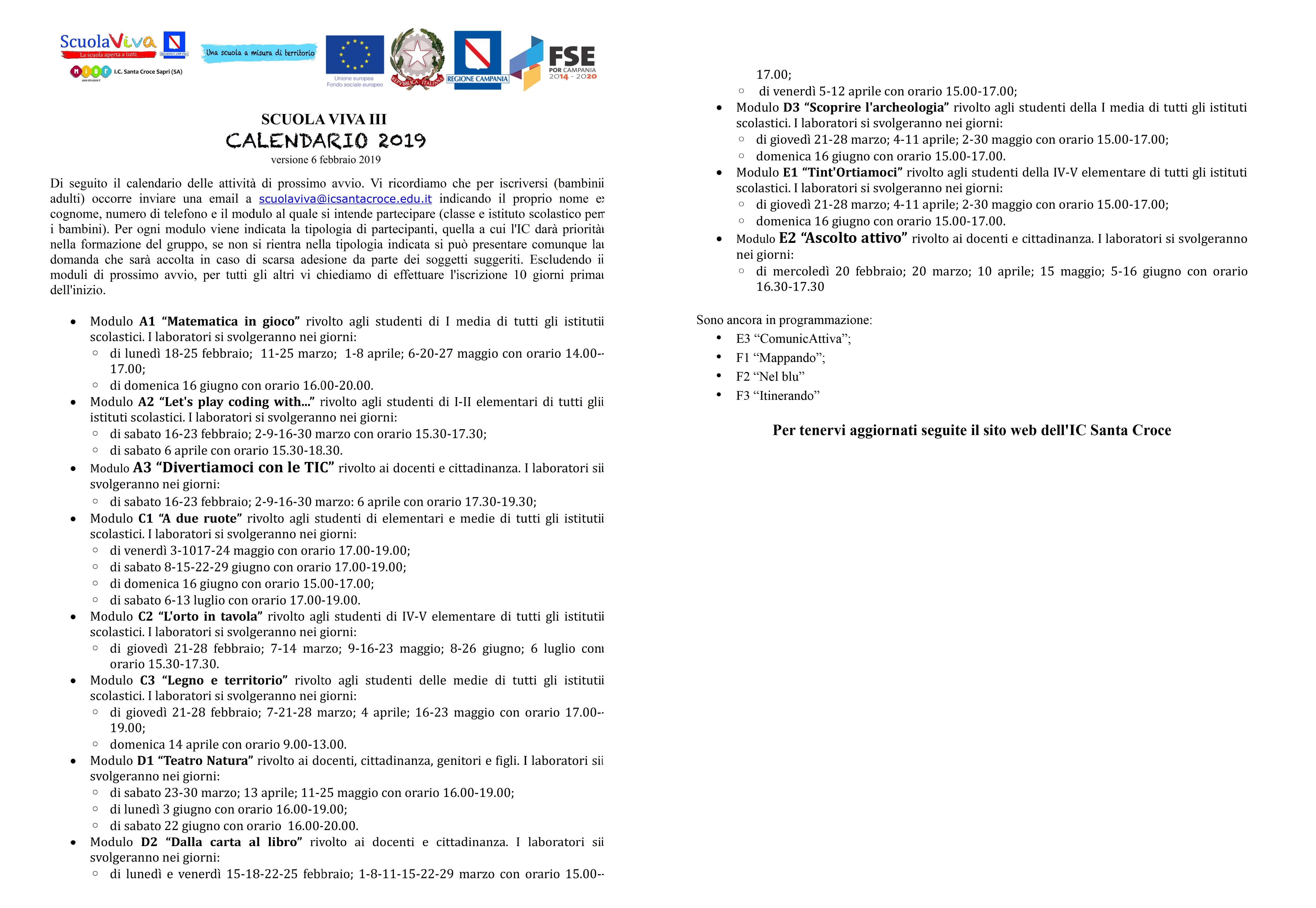 Calendario Scuola Campania.Istituto Comprensivo Santa Croce Sapri Sa Blog
