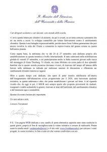 Lettera Ministro Fioramonti